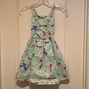 Girl's bird summer dress by Cherokee gently used
